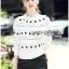 เสื้อผ้าเกาหลี พร้อมส่งจัมเป็นสีขาวตกแต่งผ้าลูกไม้โครเชต์ thumbnail 9