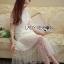 ชุดเดรสเกาหลี พร้อมส่งเดรสยาวสีขาวปักดอกเดซี่สุดหวาน thumbnail 4