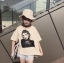เสื้อผ้าแฟชั่นเกาหลีพร้อมส่ง เสื้อยืดคอกลม เนื้อผ้าดีมาก thumbnail 8