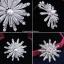 พร้อมส่ง Diamond Brooch เข็มกลัดงานเพชร CZ แท้ประดับมุก thumbnail 3