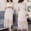 ชุดเดรสเกาหลี พร้อมส่งเดรสลูกไม้ยาวผ้าทิ้งตัวดีไซน์เก๋ๆ thumbnail 3