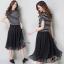 ชุดเดรสเกาหลี พร้อมส่งGivenchy Stylish Hot B&W Dress thumbnail 8