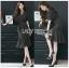 Anastasia Smart Casual Black Peplum Dress thumbnail 5