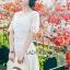 ชุดเดรสเกาหลี พร้อมส่งเดรสยาวผ้าลูกไม้สีขาวสไตล์ลำลอง thumbnail 10