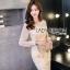 เสื้อผ้าเกาหลี พร้อมส่งค็อกเทลเดรสผ้าลูกไม้และชีฟองสีโอลด์โรส thumbnail 6