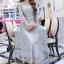 ชุดเดรสเกาหลี พร้อมส่งMiss Grey Princess Stylish Luxury Long Dress thumbnail 1