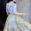 เสื้อผ้าเกาหลี พร้อมส่งAzura Skyblue Shirt + Embroidered Luxury Skirt thumbnail 12