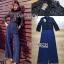 เสื้อผ้าเกาหลี พร้อมส่งจัมป์สูทขายาวผ้าลูกไม้สีดำและกางเกงสีน้ำเงิน thumbnail 5