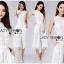 เสื้อผ้าเกาหลี พร้อมส่งจัมป์สูทผ้าลูกไม้สีขาวสไตล์มินิมัลสุดหวาน thumbnail 9