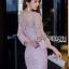 ชุดเดรสเกาหลี พร้อมส่งเดรสผ้าลูกไม้สีชมพูทรงแขนบานสไตล์สมาร์ทเฟมินีน thumbnail 5