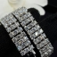 พร้อมส่ง Diamond Bracelet สร้อยข้อมือเพชร3 แถว thumbnail 5