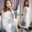 ชุุดเดรสเกาหลี พร้อมส่งจัมป์สูทผ้าลูกไม้สีขาวสไตล์สามร์ทแคชชวล thumbnail 9