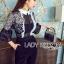 Babara Smart Casual Black & White Ruffle Lace Jumpsuit thumbnail 4