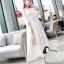 ชุดเดรสเกาหลี พร้อมส่งSummer Cross Back Luxury White Beach Dress thumbnail 3
