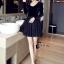 ชุดเดรสเกาหลี พร้อมส่งCendrillon Pricess Black Dress thumbnail 6