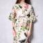 ชุดเดรสเกาหลี พร้อมส่งPink Rose Print Dress thumbnail 1