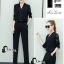 เสื้อผ้าเกาหลี พร้อมส่ง Lace Arms Elegant Jumpsuit thumbnail 5