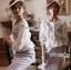 เสื้อผ้าเกาหลี พร้อมส่งเสื้อผ้าคอตตอนปักลายดอกกุหลาบสไตล์วินเทจ thumbnail 2