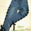 เสื้อผ้าแฟชั่นพร้อมส่ง กางเกงยีนส์ ขายาว แต่งตาไก่ร้อยเชือกผูกโบว์สีดำ งานสวยมาก thumbnail 5