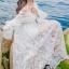 ชุเดรสเกาหลี พร้อมส่งBeach Angel Luxury White Lace Dress thumbnail 6