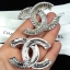 พร้อมส่ง Chanel Brooch & Earring งานเกาหลี เพชร swarovski thumbnail 6