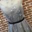 ชุดเดรสเกาหลีพร้อมส่ง Grey Princess Luxury 3D Floral Dress thumbnail 7