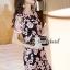 เสื้อผ้าเกาหลี พร้อมส่งSakura Pink Lace Netty Dress thumbnail 4