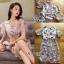 ชุดเดรสเกาหลีพร้อมส่ง เดรสผ้าออร์แกนซ่าพิมพ์และปักดอกกุหลาบสไตล์สมาร์ทเฟมินีน thumbnail 7