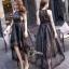 ชุดเดรสเกาหลี พร้อมส่ง Long Dress ช่วงบนทำด้วยผ้าตาข่ายลายลูกไม้ thumbnail 4