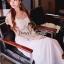( พร้อมส่งเสื้อผ้าเกาหลี) Korea Party Lux Long Maxi-Dress by Seoul Secret thumbnail 4