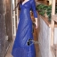 ชุดเดรสเกาหลี พร้อมส่งlong dress คอวี แขนยาวปักเลื่อมทั้งตัว thumbnail 1