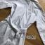 เสื้อผ้าเกาหลี พร้อมส่งเชิ้ตเดรสพิมพ์ลายทางผูกโบที่เอวสไตล์เบสิก thumbnail 9