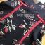 ชุดเดรสเกาหลี พร้อมส่งมินิเดรสสีดำพิมพ์ลายดอกไม้ทรงแขนบาน thumbnail 11