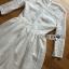ชุดเดรสแฟชั่น พร้อมส่งเดรสผ้าลูกไม้สีขาวสไตล์เจ้าหญิงคลาสสิก thumbnail 18