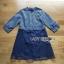 ชุดเดรสเกาหลีพร้อมส่ง เดรสผ้าคอตตอนลายทางและกระโปรงออร์แกนซ่า thumbnail 7