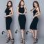 ชุดเดรสเกาหลี พร้อมส่งBlack Back Show Off Sexy Dress thumbnail 7
