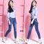 เสื้อผ้าเกาหลีพร้อมส่ง กางเกงยีนส์ทรงเดฟ ผ้ายีนส์ฮ่องกง thumbnail 13