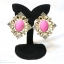 E149006 Shocking Pink Earring ต่างหูทองสีชมพู thumbnail 1