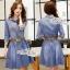 ชุดเดรสเกาหลี พร้อมส่งเดรสยีนส์ เดนิม แต่งลายผ้า ที่ปกเสื้อ thumbnail 5