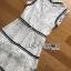 ชุดเดรสเกาหลี พร้อมส่งเดรสผ้าลูกไม้สีขาวจากแบรนด์Self-Portrait thumbnail 13