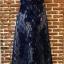 ชุดเดรสเกาหลี พร้อมส่งLong dress แขนกุดผ้ามุ้งสีกรม สองชั้น thumbnail 11