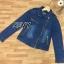 เสื้อผ้าเกาหลี พร้อมส่ง100%Denimเสื้อคลุม thumbnail 10