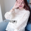 เสื้อผ้าเกาหลี พร้อมส่งเสื้อผ้าลูกไม้สีขาวสไตล์คลาสสิกสุดหวาน thumbnail 2