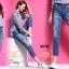 เสื้อผ้าเกาหลี พร้อมส่งกางเกงยีนส์ทรงเดฟ ผ้ายีนส์ฮ่องกง thumbnail 10