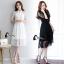 ชุดเดรสเกาหลี พร้อมส่งlong dress ลูกไม้นิ่มลื่นเกรดด thumbnail 2