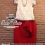 เสื้อผ้าเกาหลี พร้อมส่ง ชุดเซ็ทเสื้อกับกระโปรง ทรงสอบยาวผ่าข้าง thumbnail 5