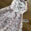 ชดเดรสเกาหลี พร้อมส่งเดรสผ้าเครปสีชมพูปักผีเสื้อตกแต่งสร้อยคอมุก thumbnail 11