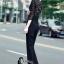เสื้อผ้าเกาหลี พร้อมส่ง Luxury Black Lace Jumpsuite - Jumpsuite thumbnail 4