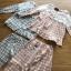 เสื้อผ้าเกาหลี พร้อมส่งเซ็ตชุดนอนผ้าคอตตอนลายตารางสีพาสเทล thumbnail 11