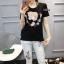 เสื้อผ้าแฟชั่นเกาหลีพร้อมส่ง ชุดเซท เสื้องานปักลายแบรน Gucci thumbnail 2